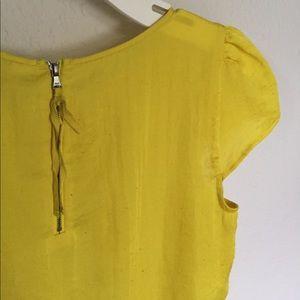 LOFT Highlighter Yellow Blouse